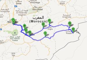 Mapa zabytków UNESCO w Maroko