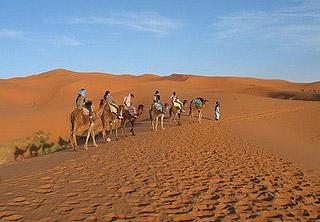 Wydmy Erg Chebbi Maroko